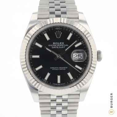 Rolex - Datejust 41 Fluted Jubilee Black Dial NEW!
