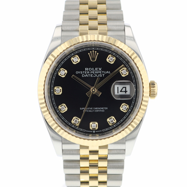 Rolex - Datejust 36 Steel Gold / Fluted / Jubilee Diamond Dial