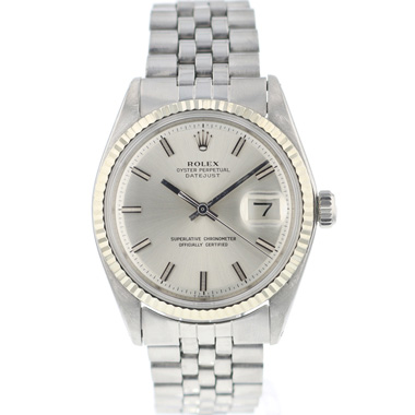 Rolex - Datejust 36 Fluted Silver Dial Wide Boy