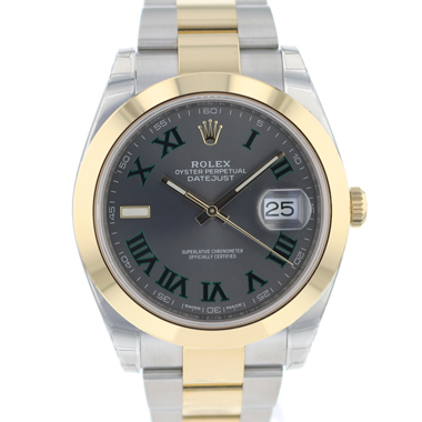 Rolex - Datejust 41 Steel / Gold Wibledon Dial NEW In Stickers!