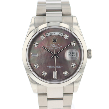 Rolex - Day-Date White Gold MOP Diamond Dial