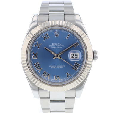 Rolex - Datejust II Fluted Blue Dial