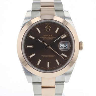 Rolex - Datejust 41 Steel / Everose Gold Choco Dial NEW