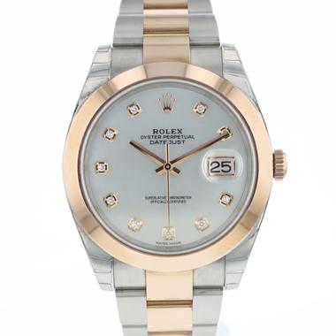 Rolex - Datejust 41 Rolesor Everose MOP Dial Diamonds NEW
