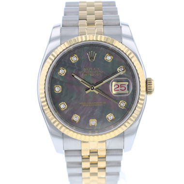 Rolex - Datejust 36 Steel Gold / Fluted / Jubilee / Diamond MOP Dial