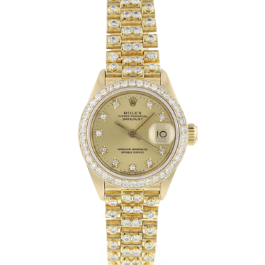 Rolex - Datejust 26 Gold Full  Diamonds
