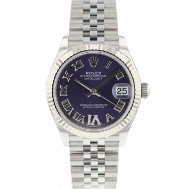 Rolex - Datejust 31 Jubilee Midsize Purple Diamond Dial NEW