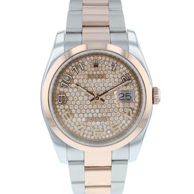 Rolex - Datejust 36 Steel / Everose Gold Diamonds