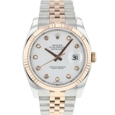 Rolex - Datejust 36 Steel / Everose Gold Diamond Dial