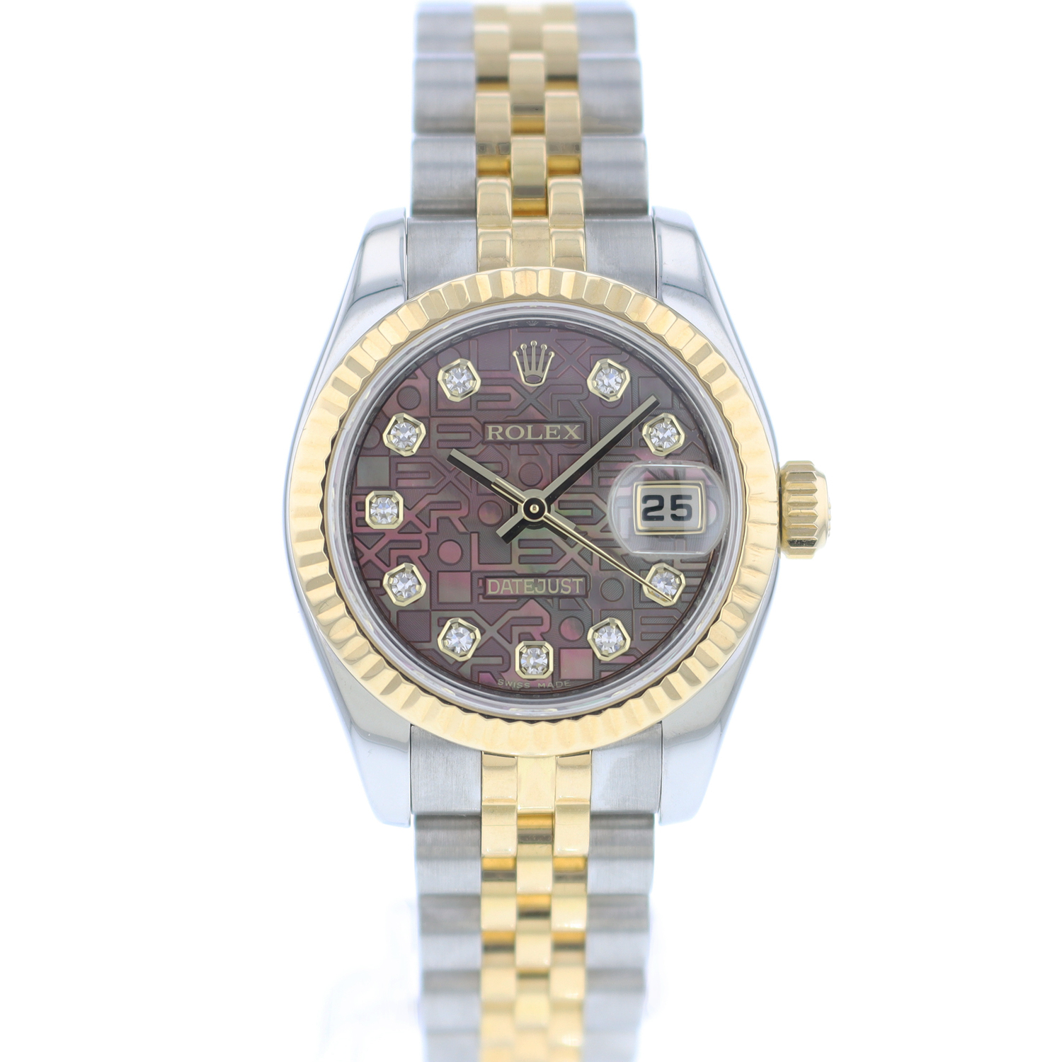 Rolex - Datejust 26 Steel/Gold Fluted Jubilee  Diamond  Logo Dial
