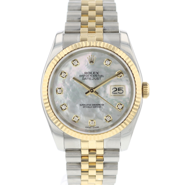 Rolex - Datejust 36 Steel Gold / Fluted / Jubilee MOP Diamonds