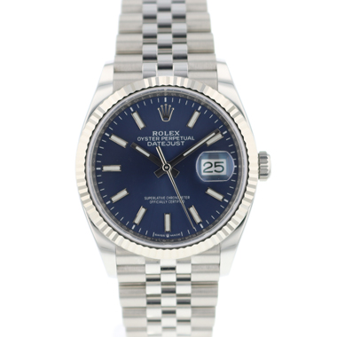 Rolex - Datejust 36 Fluted Jubilee Blue Dial 126234 BRAND NEW