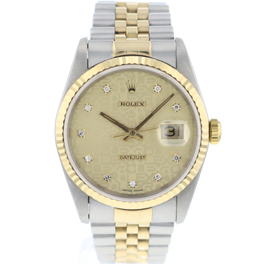 Rolex - Datejust 36 Steel/Gold jubilee Diamond Logo Dial