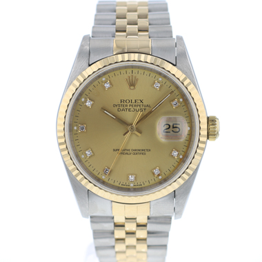 Rolex - Datejust 36 Steel/Gold jubilee Diamond Dial