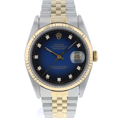 Rolex - Datejust 36 Steel/Gold jubilee Blue Vignette Diamond Dial