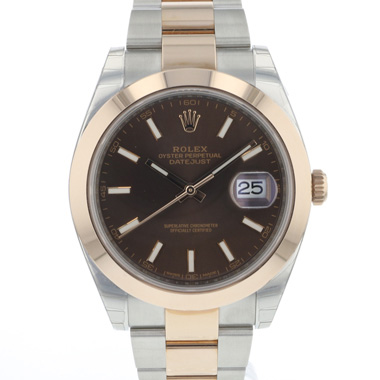 Rolex - Datejust 41 Steel / Everose Gold Choco Dial NEW!!