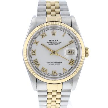 Rolex - Datejust 36 Steel/Gold jubilee White Roman Dial