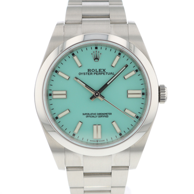 Rolex - Oyster Perpetual 39 Turquoise Blue Tiffany Dial