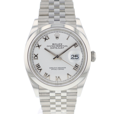 Rolex - Datejust 36 Jubilee White Roman Dial NEW!
