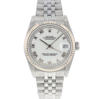 Rolex - Datejust Midsize 31 Jubilee Fluted White Roman Dial