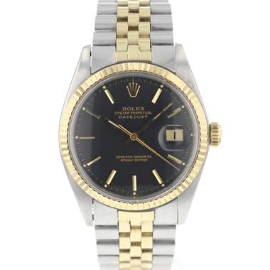 Rolex - Datejust 36 Gold / Steel Black Dial