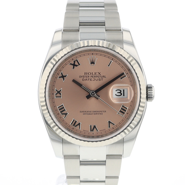 Rolex - Datejust 36 Fluted Pink Roman Dial