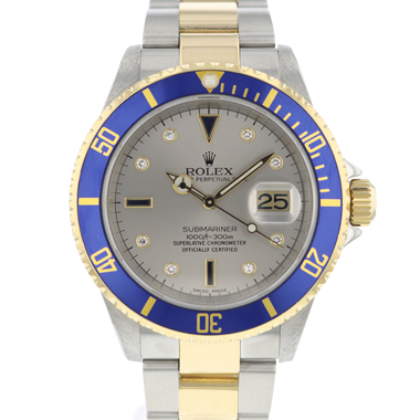 Rolex - Submariner Date Sultan Gold/Steel Diamond Dial