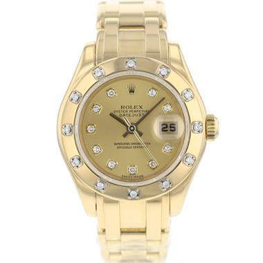 Rolex - Datejust Pearlmaster Yellow Gold Diamonds
