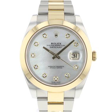 Rolex - Datejust 41 Gold/Steel MOP Diamond Dial
