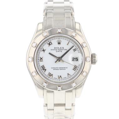 Rolex - Pearlmaster White Roman Diamonds