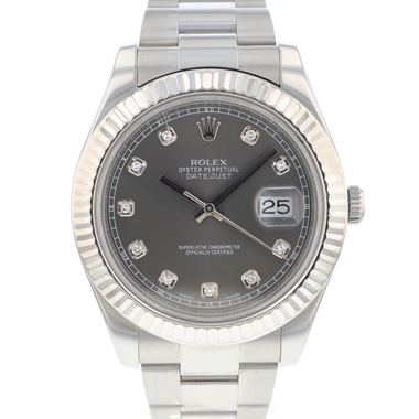Rolex - Datejust II Fluted Dark Rhodium Diamonds