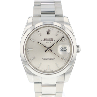 Rolex - Oyster Perpetual Date 34 Silver Dial