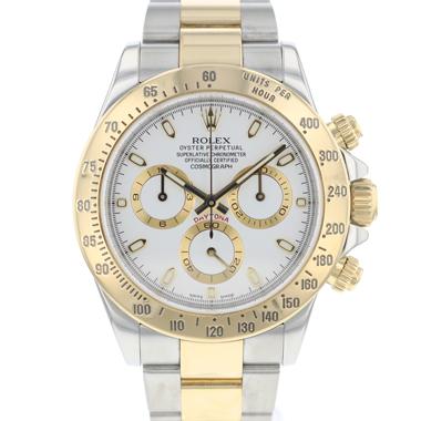 Rolex - Daytona Steel / Gold White Dial
