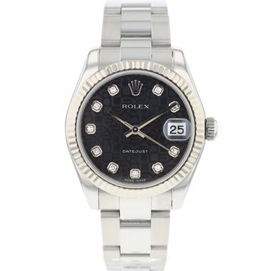 Rolex - Datejust 31 Midsize Black Diamond Logo Dial