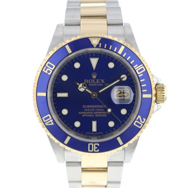 Rolex - Submariner Date Gold/Steel Blue Rehaut