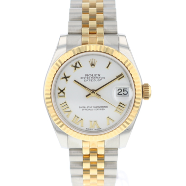 Rolex - Datejust 31 MM Gold / Steel Jubilee White Roman Dial