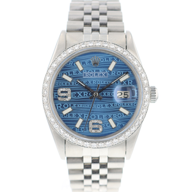 Rolex - Datejust 36 Blue Diamond Logo Dial