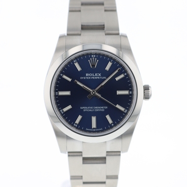 Rolex - Oyster Perpetual 34 Bright  Blue Dial NEW