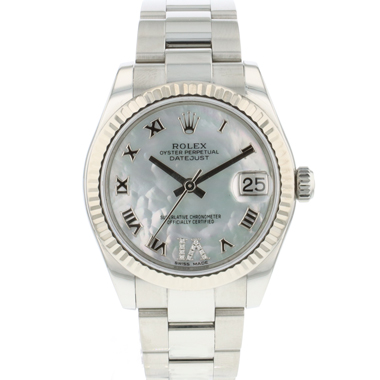 Rolex - Datejust 31 Midsize Fluted  Diamond MOP Dial