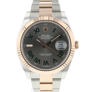 Rolex - Datejust 41 Steel / Everose Gold Wimbledon NEW