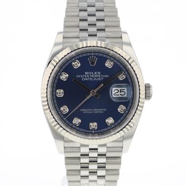 Rolex - Datejust 36 Fluted Jubilee Blue Diamond Dial NEW