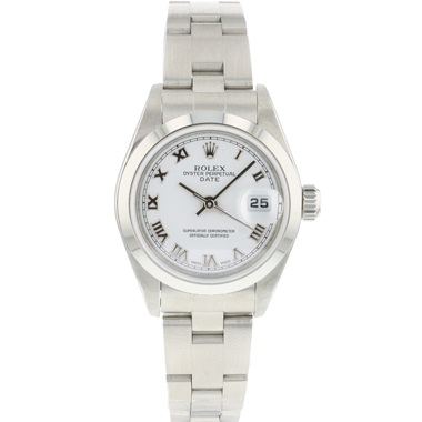 Rolex - Oyster Perpetual Date 26 Lady White Roman Dial