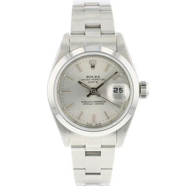 Rolex - Oyster perpetual date 26 Lady Silver Dial
