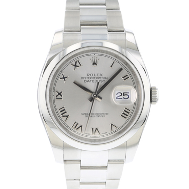 Rolex - Datejust 36 Silver Roman Dial