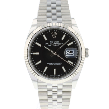 Rolex - Datejust 36 Fluted Jubilee Black Dial NEW