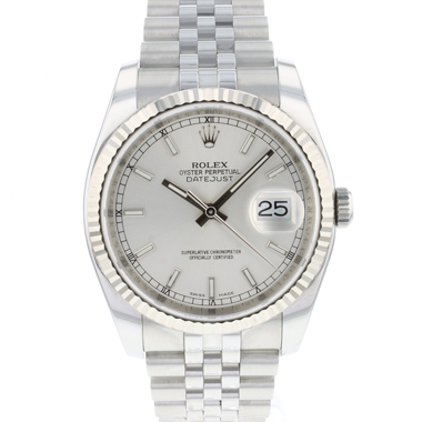 Rolex - Datejust 36 Jubilee/Fluted Silver Dial