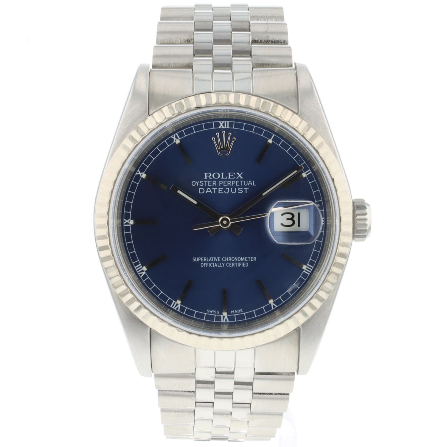 Rolex - Datejust 36 Fluted Jubilee Blue Dial