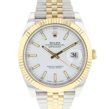Rolex - Datejust 41 Gold/Steel Jubilee White Dial