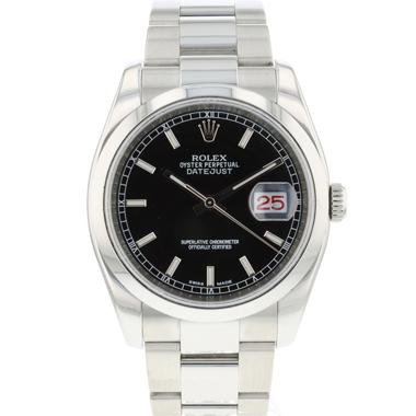 Rolex - Datejust 36 Black Dial / Roulette Date