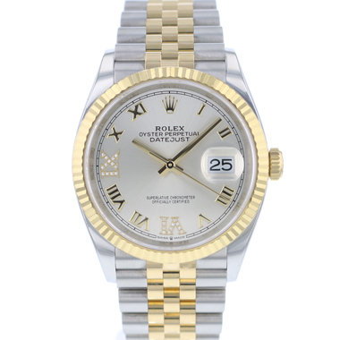 Rolex - Datejust 36 Steel Gold / Fluted / Jubilee Diamond  Dial